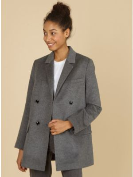Пиджак шерстяной двубортный 12storeez