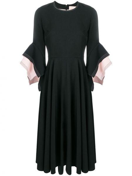 Платье миди на молнии с рукавом колокол Roksanda