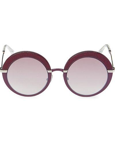 Солнцезащитные очки металлические - фиолетовые Jimmy Choo
