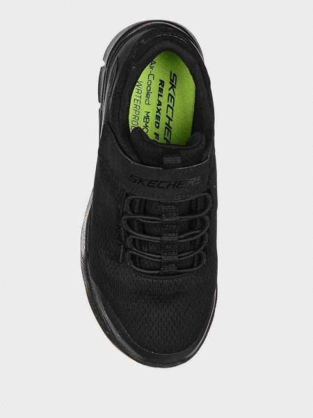 Кроссовки на липучках - черные Skechers