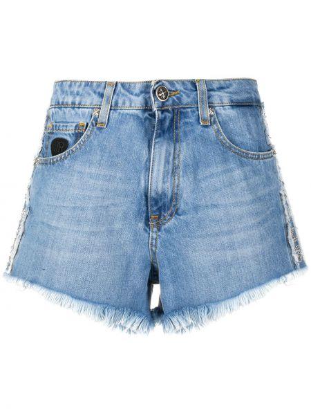Джинсовые шорты с завышенной талией с карманами John Richmond