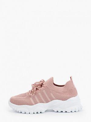 Текстильные розовые кроссовки Go-go