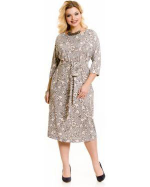 Платье миди повседневное с поясом Novita