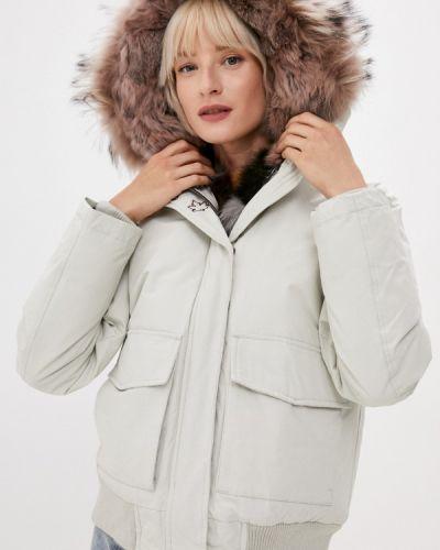 Белая демисезонная куртка Canadian