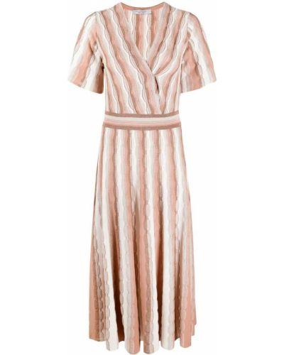 Вязаное платье с V-образным вырезом из вискозы D.exterior