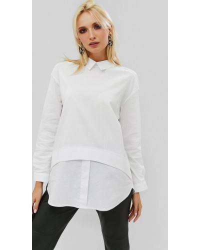 Блузка с длинным рукавом осенняя белая Cardo