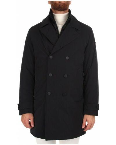 Czarny płaszcz przeciwdeszczowy Duno