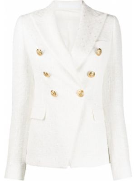 Приталенный классический пиджак с карманами золотой Tagliatore