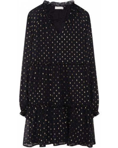 Черное платье свободного кроя Stella Mccartney