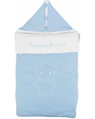 Niebieska klasyczna torebka bawełniana Emporio Armani Kids