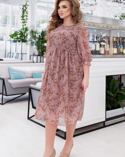 Яркое платье - бежевое Van Gils