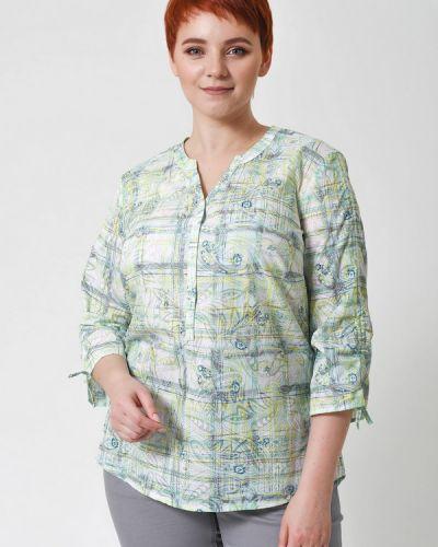 Хлопковая блузка - зеленая Lebek