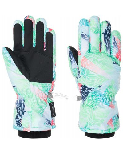 Голубые перчатки трикотажные Glissade