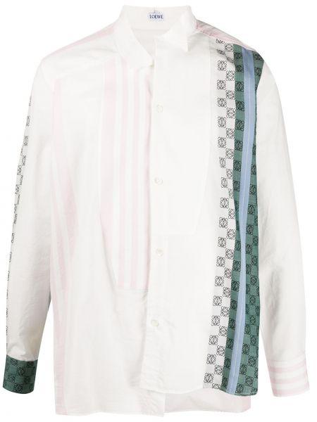 Koszula z długim rękawem w paski z paskami Loewe
