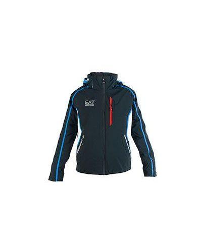 Черная зимняя куртка Ea7