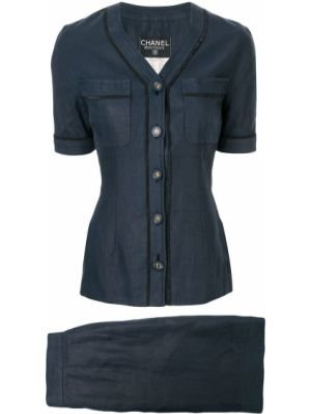 Garnitur kostium niebieski Chanel Pre-owned