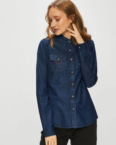 Блузка с длинным рукавом однотонная с вышивкой Femi Stories
