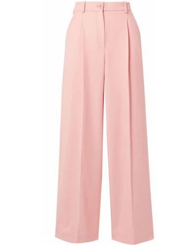 Różowe spodnie bawełniane z paskiem Racil