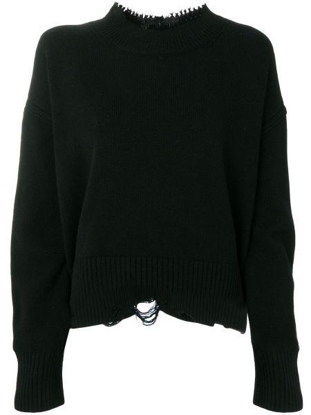 Sweter z kaszmiru prążkowany Helmut Lang