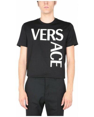 Czarna t-shirt Versace