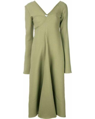 Платье макси длинное - зеленое Beaufille