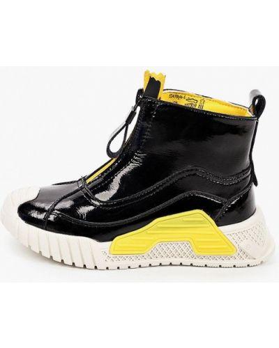 Черные лаковые кожаные ботинки Kapika