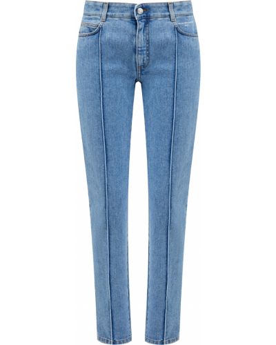 Джинсовые зауженные джинсы - голубые Stella Mccartney