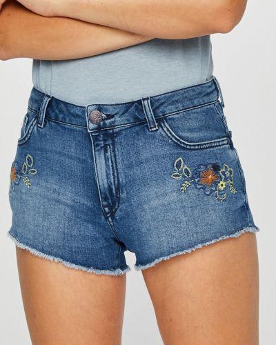 Джинсовые шорты с вышивкой с карманами U.s. Polo