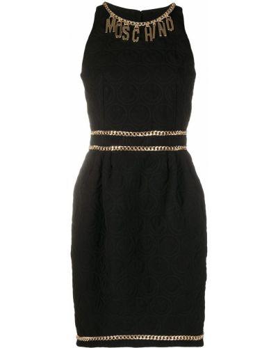 Czarny sukienka okrągły dekolt okrągły Moschino