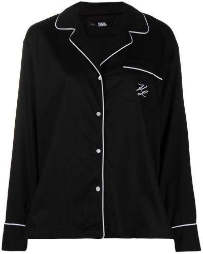 Czarna piżama z długimi rękawami Karl Lagerfeld