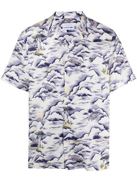 Koszula krótkie z krótkim rękawem prosto z kołnierzem Lacoste