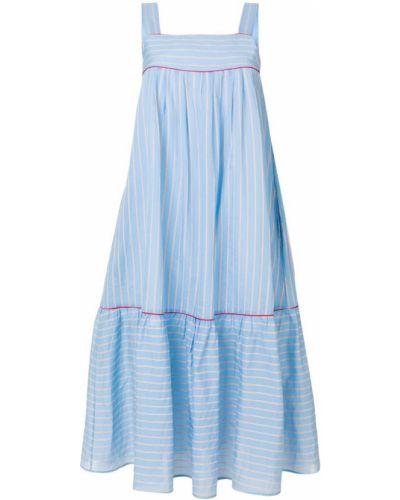 Платье макси в полоску солнце льняное Paul & Joe