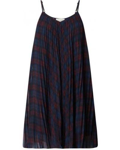 Sukienka rozkloszowana z szyfonu - niebieska Tommy Hilfiger