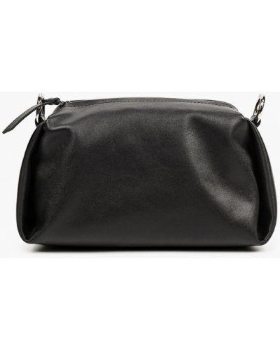 Черная сумка через плечо из натуральной кожи Asya Malbershtein