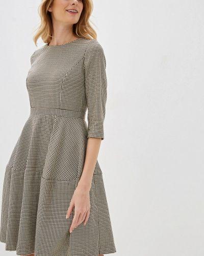 Прямое бежевое платье Baon