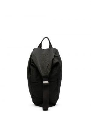 Czarny plecak z klamrą Julius