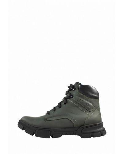 Кожаные ботинки - зеленые Mida