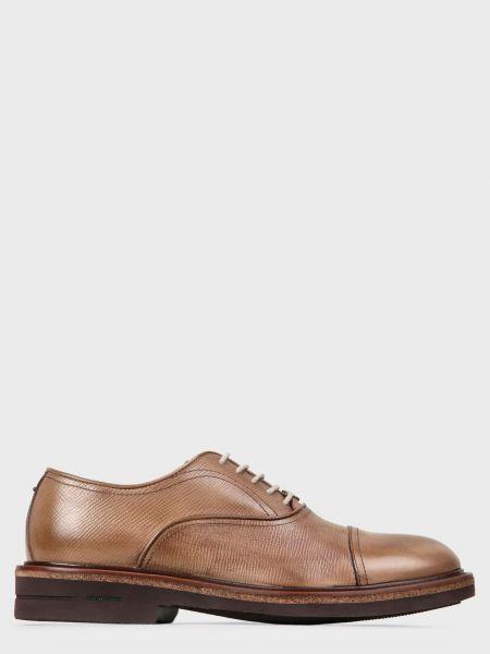 Кожаные туфли - коричневые Brimarts