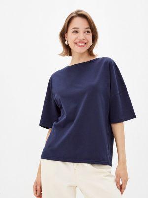 Синяя футболка с короткими рукавами Gabriela