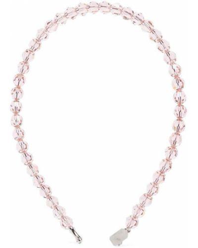 Розовый ободок с бисером металлический Gigi Burris Millinery