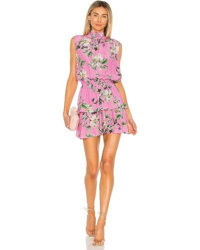 Розовое платье А-силуэта винтажное на резинке Yumi Kim