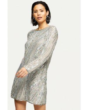 Вечернее платье осеннее серебряный Miss Selfridge