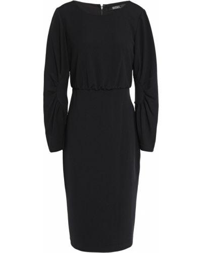 Черное платье на крючках Badgley Mischka