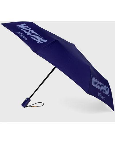 Зонт синий фиолетовый Moschino