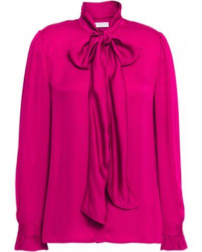 Сатиновая розовая блузка с манжетами Claudie Pierlot