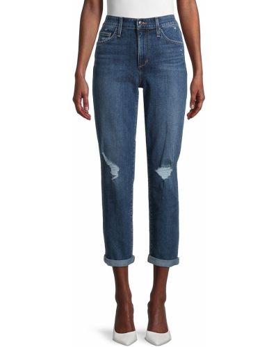 Хлопковые синие джинсы бойфренды с карманами Joe's Jeans