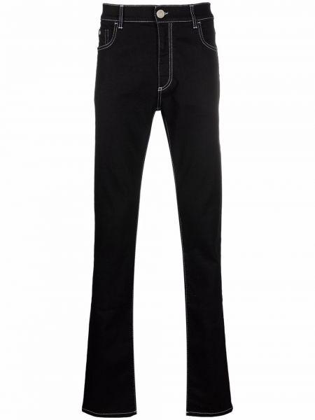 Черные джинсы с нашивками Billionaire