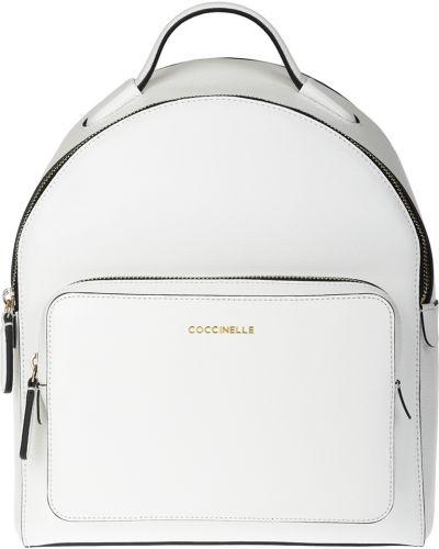 Рюкзак на молнии белый Coccinelle