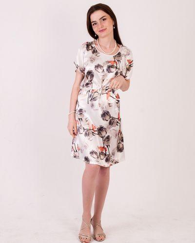 Шелковое платье - белое Mulberry