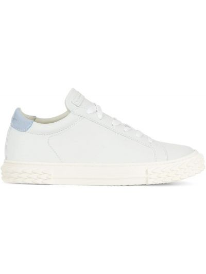 Białe sneakersy skorzane sznurowane Giuseppe Zanotti